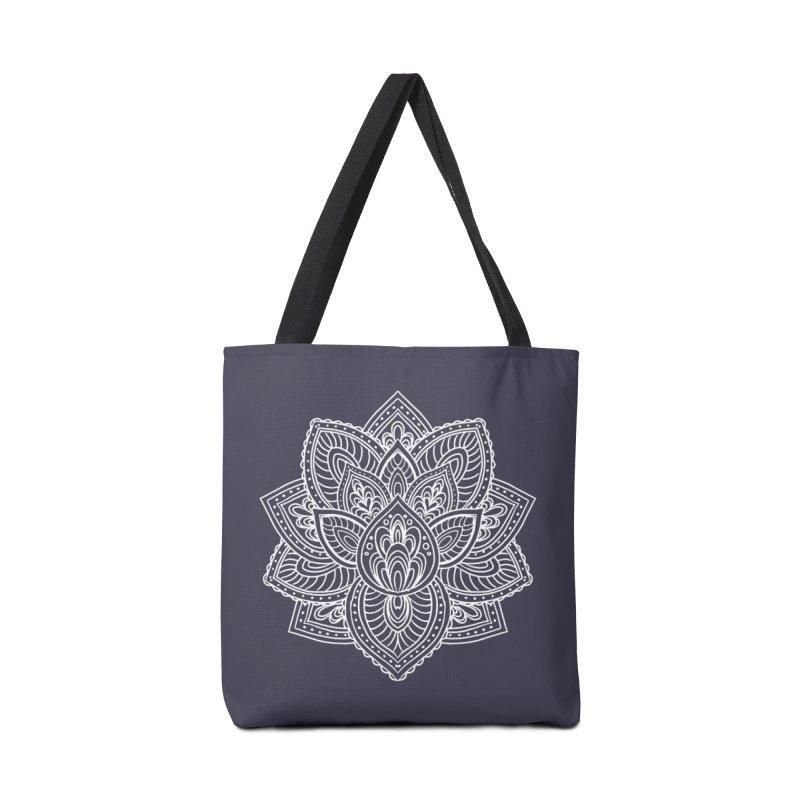 Paisley Lotus Accessories Bag by pesst's Artist Shop