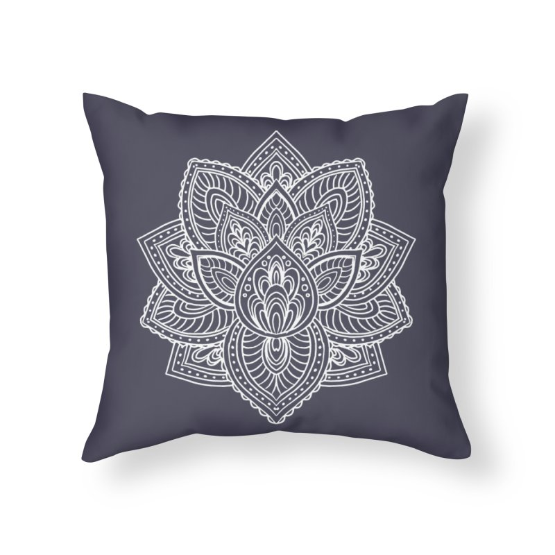 Paisley Lotus Home Throw Pillow by pesst's Artist Shop