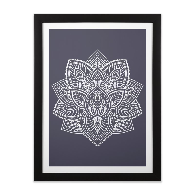 Paisley Lotus Home Framed Fine Art Print by pesst's Artist Shop