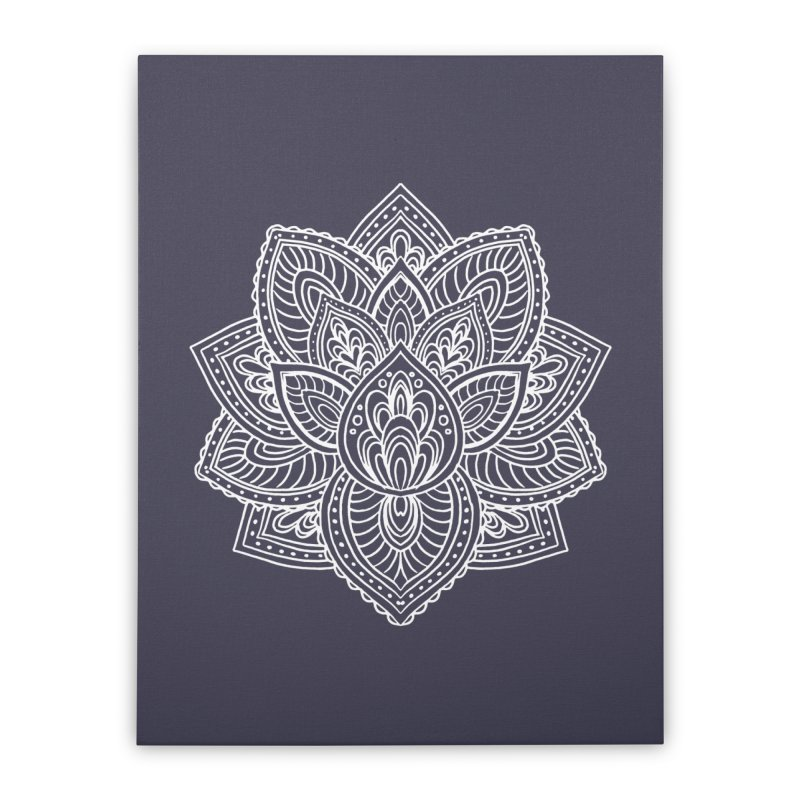Paisley Lotus Home Stretched Canvas by pesst's Artist Shop