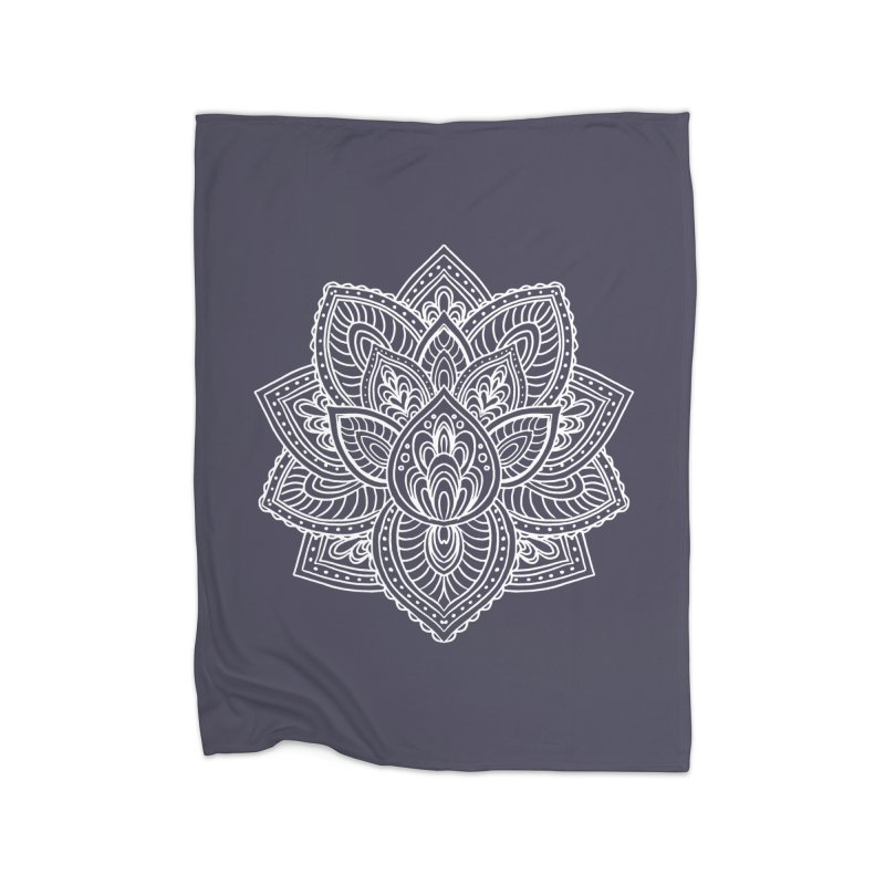Paisley Lotus Home Fleece Blanket Blanket by pesst's Artist Shop
