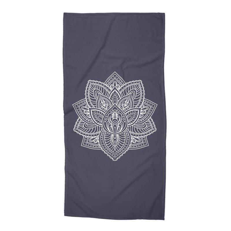 Paisley Lotus Accessories Beach Towel by pesst's Artist Shop