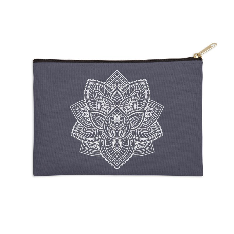 Paisley Lotus Accessories Zip Pouch by pesst's Artist Shop