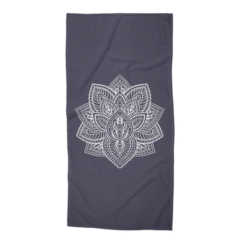 Paisley Lotus Accessories Beach Towel by pesst's Artist Shop