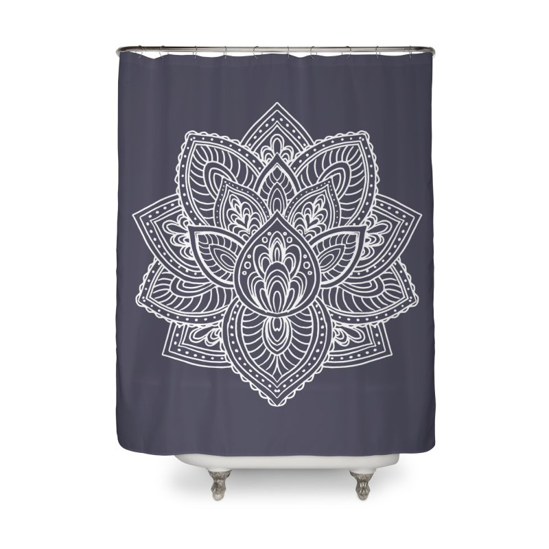 Paisley Lotus Home Shower Curtain by pesst's Artist Shop