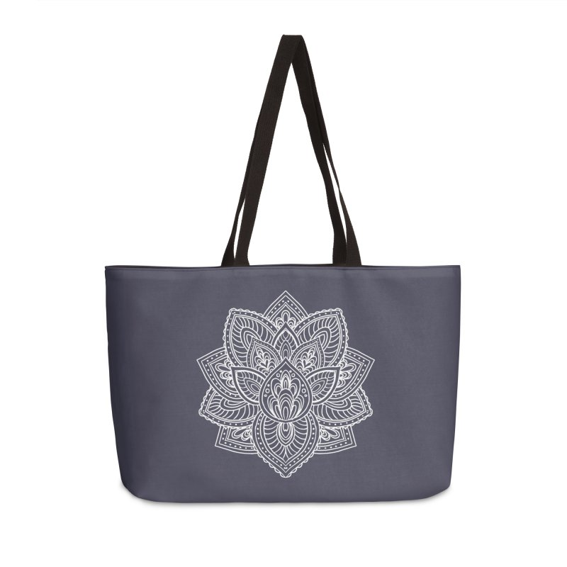 Paisley Lotus Accessories Weekender Bag Bag by pesst's Artist Shop