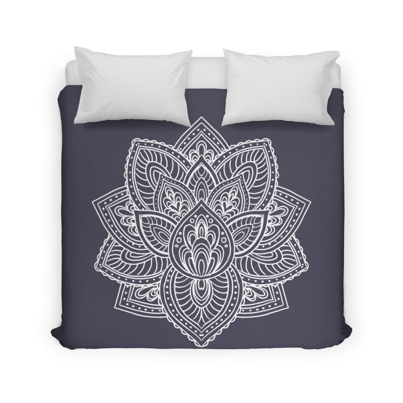 Paisley Lotus Home Duvet by pesst's Artist Shop