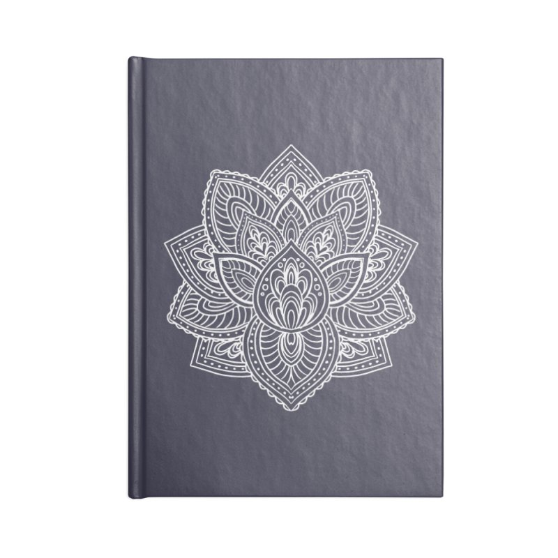 Paisley Lotus Accessories Lined Journal Notebook by pesst's Artist Shop