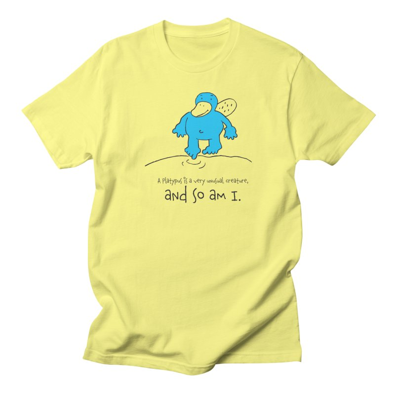 Platypus Men's T-Shirt by peterhester's Stuff