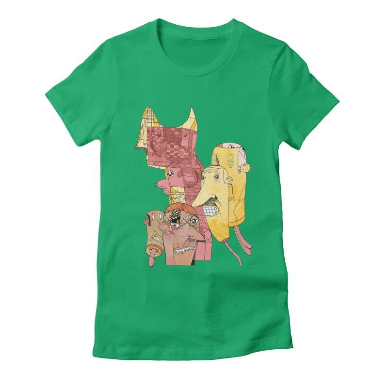 hidden godz Women's Fitted T-Shirt by peterthompson's Artist Shop