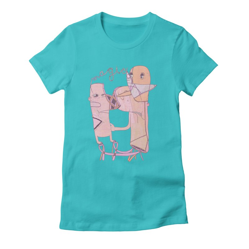 magic Women's Fitted T-Shirt by peterthompson's Artist Shop