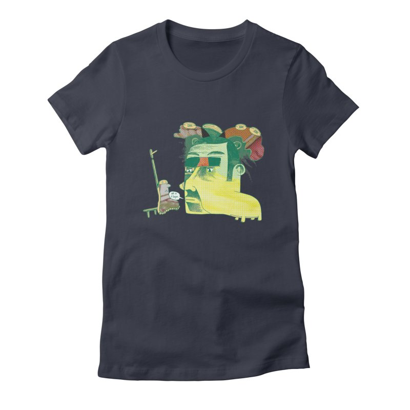 and so it begins Women's Fitted T-Shirt by peterthompson's Artist Shop