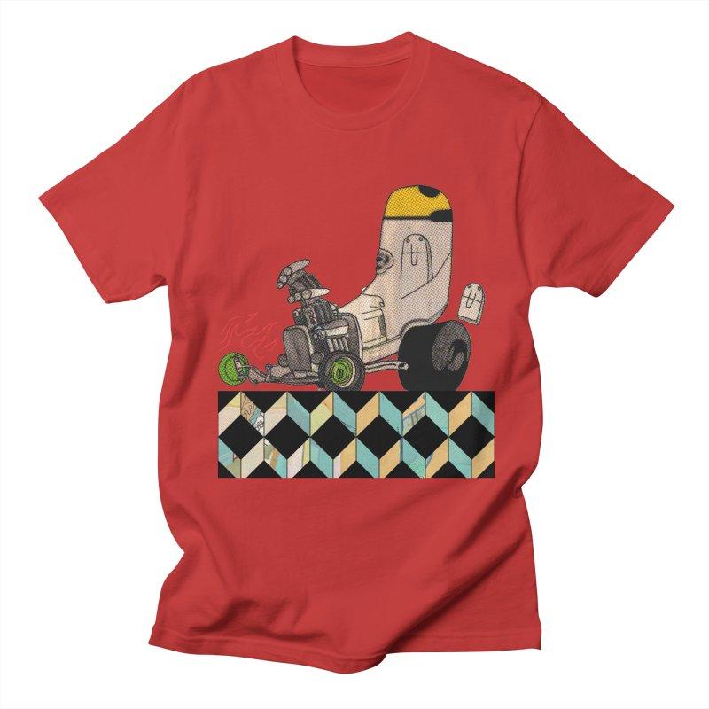 hotrod explosion Men's T-Shirt by peterthompson's Artist Shop