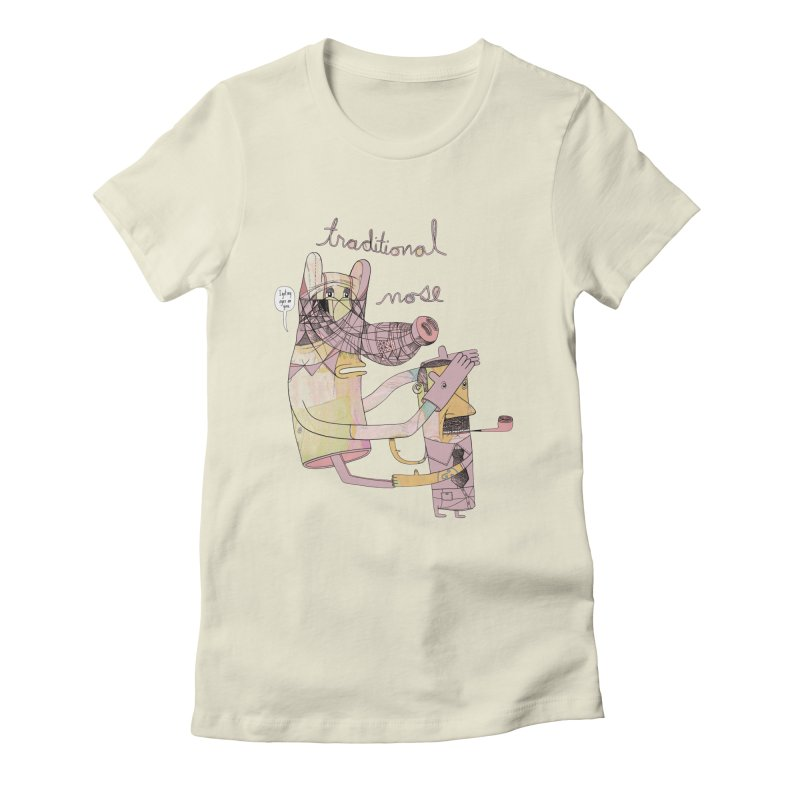 traditional nose Women's Fitted T-Shirt by peterthompson's Artist Shop