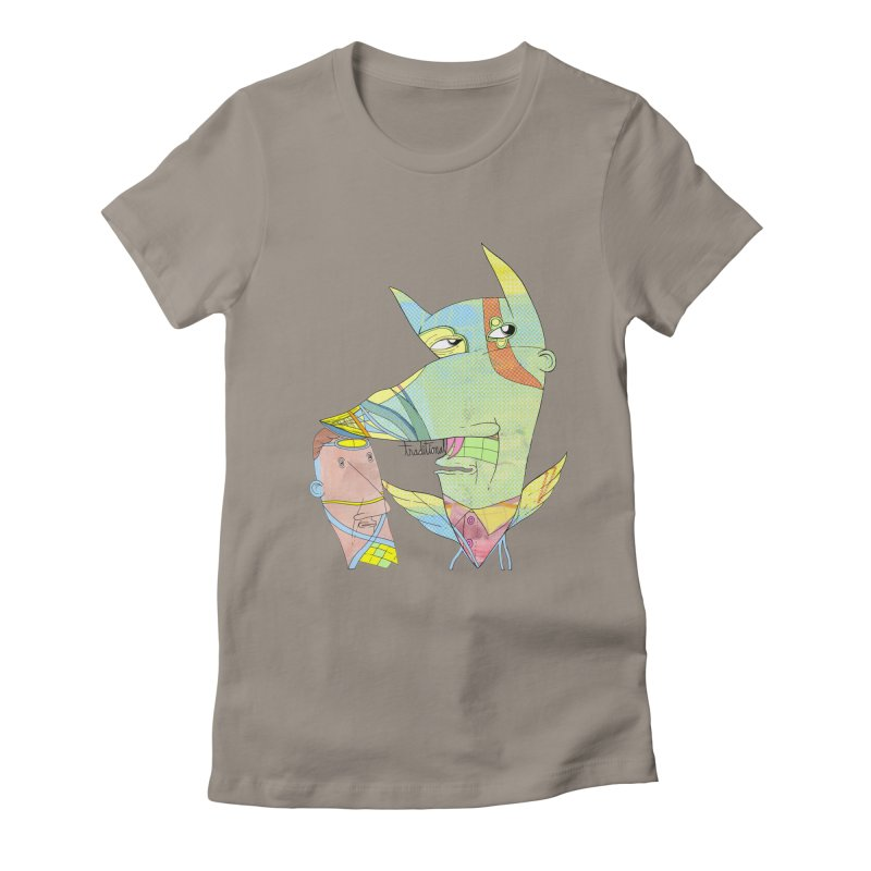traditional nose 2 Women's Fitted T-Shirt by peterthompson's Artist Shop