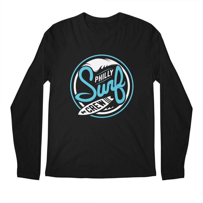 PSC LOGO - BLUE AND WHITE Men's Longsleeve T-Shirt by Walters Media & Design