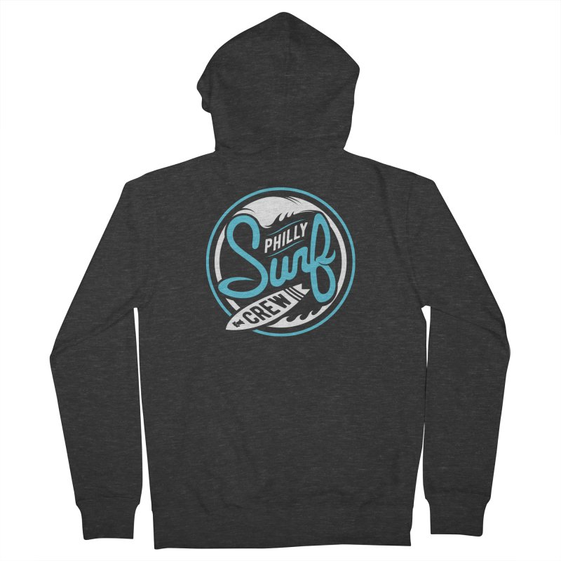PSC LOGO - BLUE AND WHITE Men's Zip-Up Hoody by Walters Media & Design