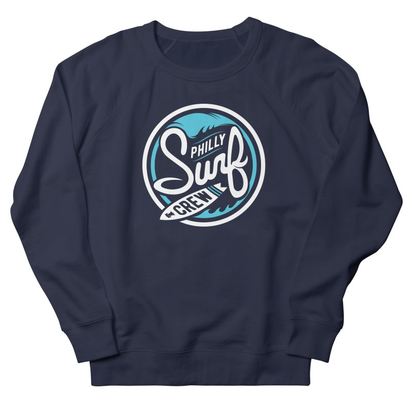 PSC LOGO - BLUE AND WHITE Men's French Terry Sweatshirt by Walters Media & Design