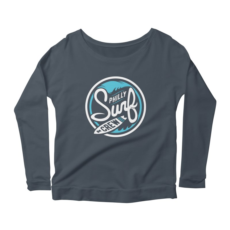 PSC LOGO - BLUE AND WHITE Women's Longsleeve Scoopneck  by Walters Media & Design