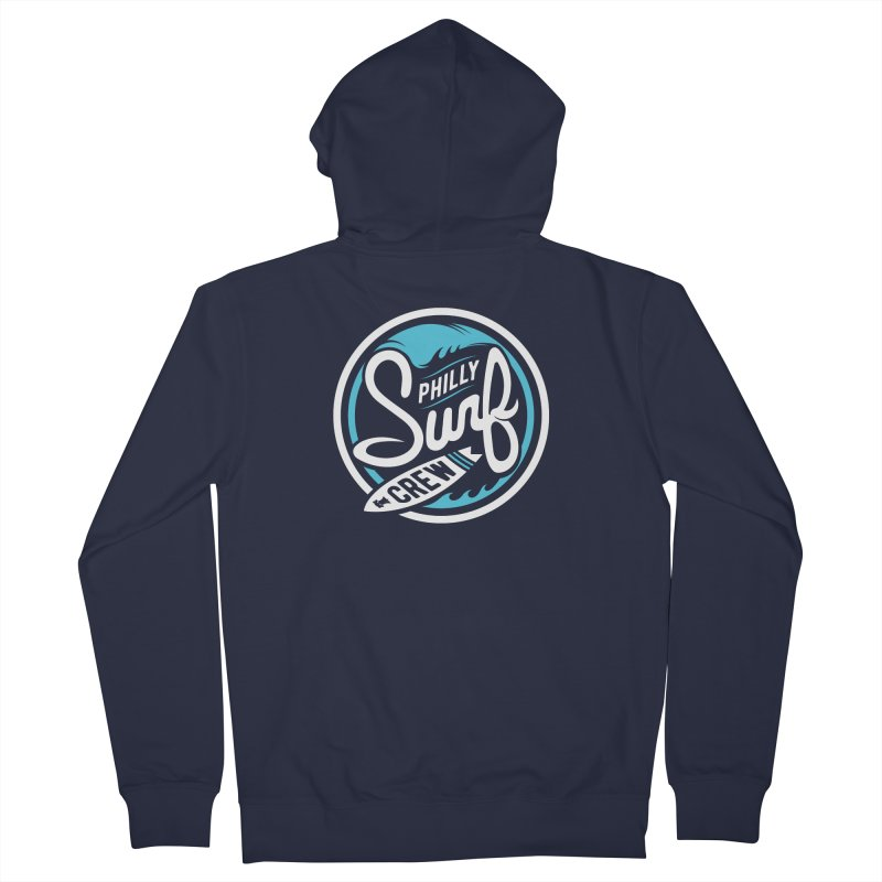 PSC LOGO - BLUE AND WHITE Women's French Terry Zip-Up Hoody by Walters Media & Design