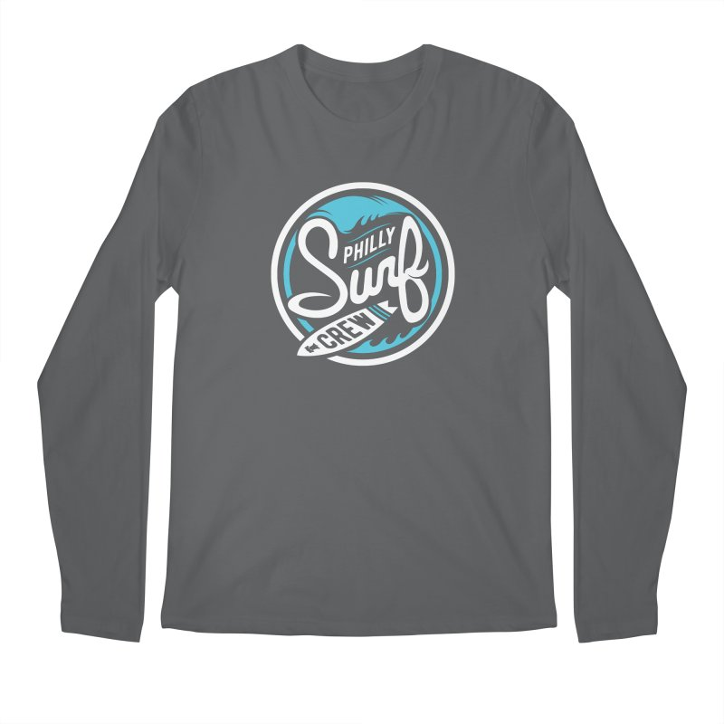 PSC LOGO - BLUE AND WHITE Men's Regular Longsleeve T-Shirt by Walters Media & Design