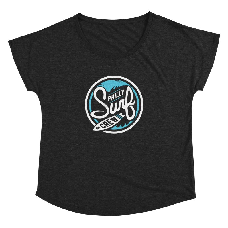 PSC LOGO - BLUE AND WHITE Women's Dolman Scoop Neck by Walters Media & Design