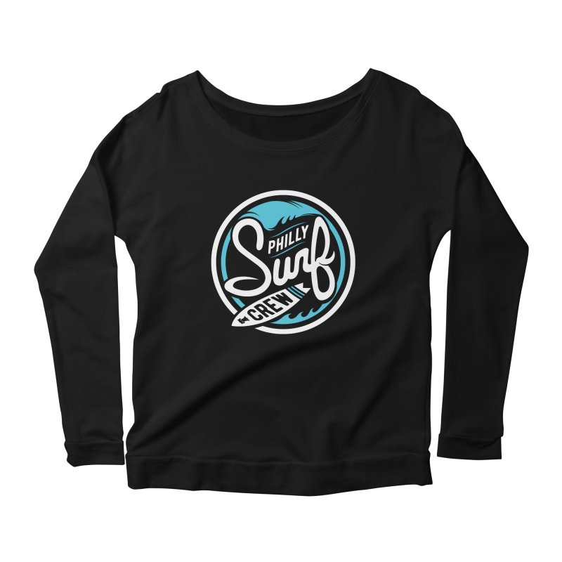 PSC LOGO - BLUE AND WHITE Women's Scoop Neck Longsleeve T-Shirt by Walters Media & Design