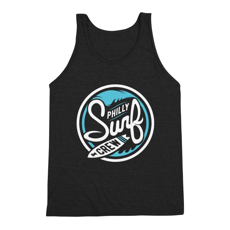 PSC LOGO - BLUE AND WHITE Men's Triblend Tank by Walters Media & Design