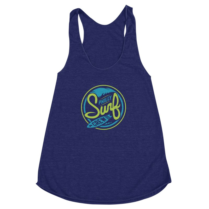 PSC LOGO - SAFARI Women's Racerback Triblend Tank by Walters Media & Design