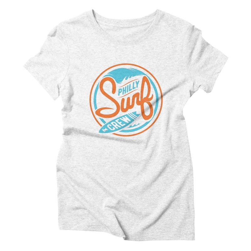 PSC LOGO - BLUE AND ORANGE Women's Triblend T-shirt by Walters Media & Design