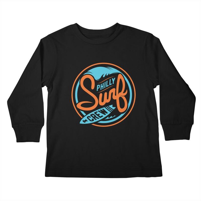 PSC LOGO - BLUE AND ORANGE Kids Longsleeve T-Shirt by Walters Media & Design