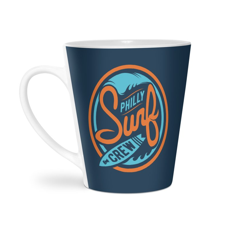 PSC LOGO - BLUE AND ORANGE Accessories Latte Mug by Walters Media & Design