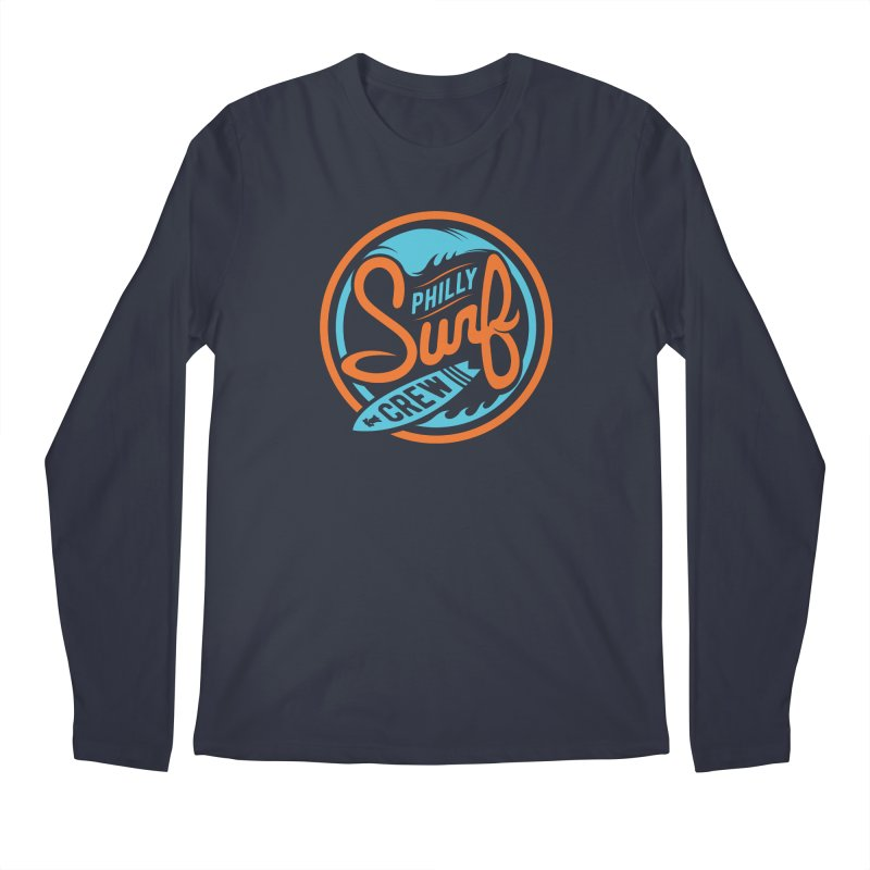 PSC LOGO - BLUE AND ORANGE Men's Regular Longsleeve T-Shirt by Walters Media & Design