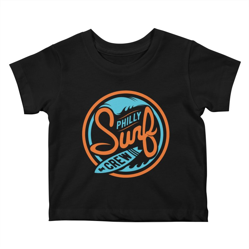 PSC LOGO - BLUE AND ORANGE Kids Baby T-Shirt by Walters Media & Design