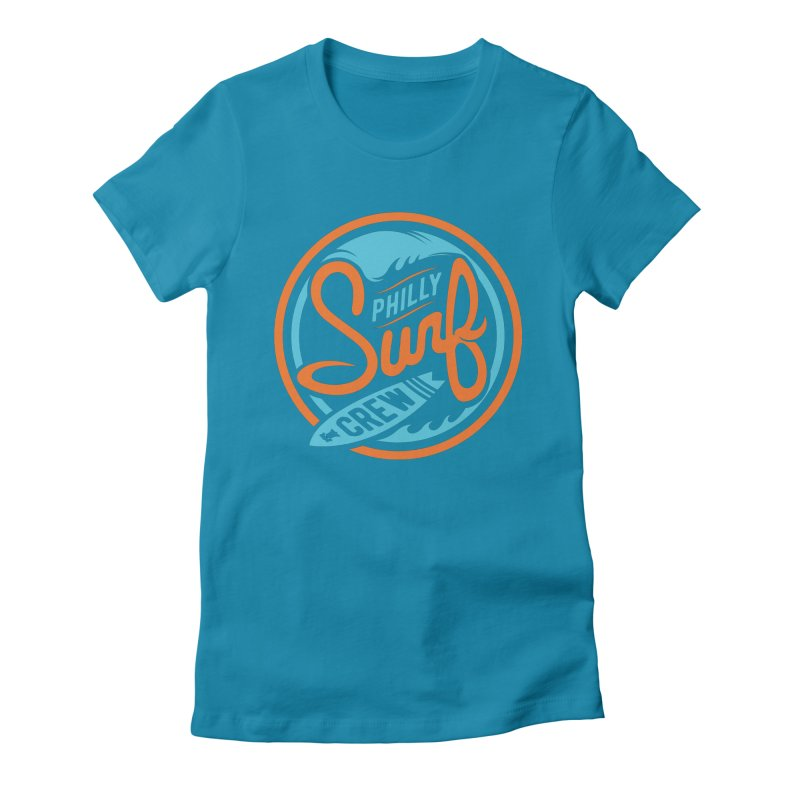 PSC LOGO - BLUE AND ORANGE Women's Fitted T-Shirt by Walters Media & Design