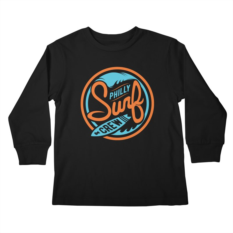 PSC LOGO - BLUE AND ORANGE Kids Longsleeve T-Shirt by Walters Media & Design