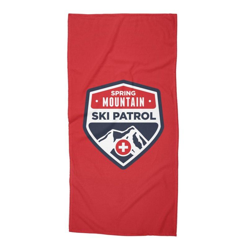Spring Mountain Ski Patrol Accessories Beach Towel by Walters Media & Design