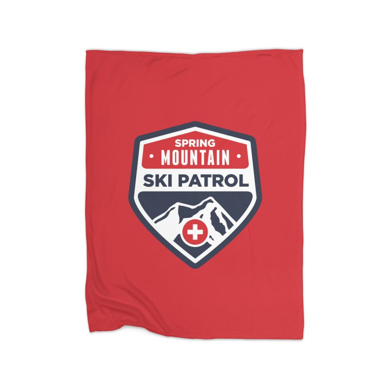 Spring Mountain Ski Patrol Home Blanket by Walters Media & Design