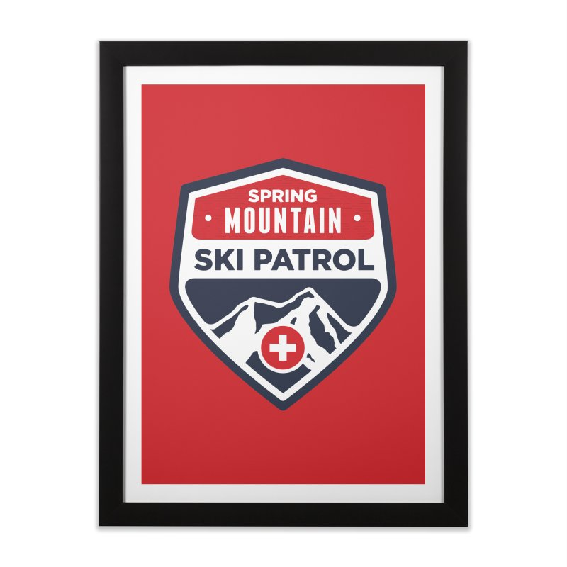 Spring Mountain Ski Patrol Home Framed Fine Art Print by Walters Media & Design