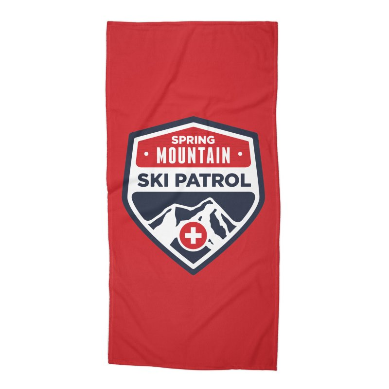 Spring Mountain Ski Patrol Accessories Beach Towel by Walters Media & Design