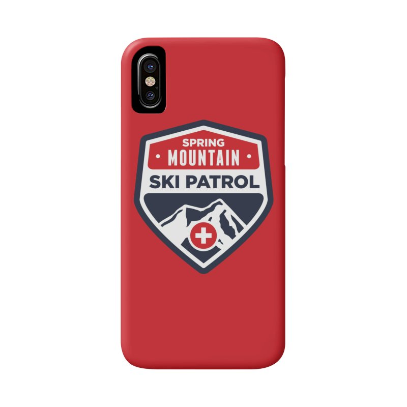 Spring Mountain Ski Patrol in iPhone X / XS Phone Case Slim by Walters Media & Design
