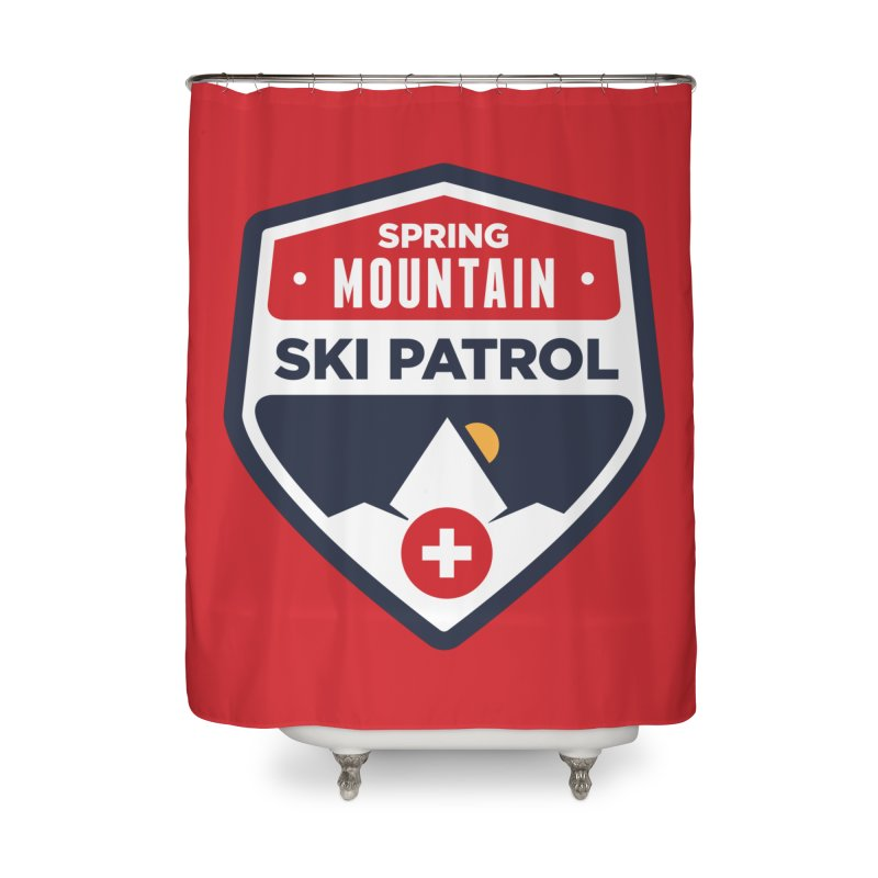 Spring Mountain Ski Patrol Home Shower Curtain by Walters Media & Design