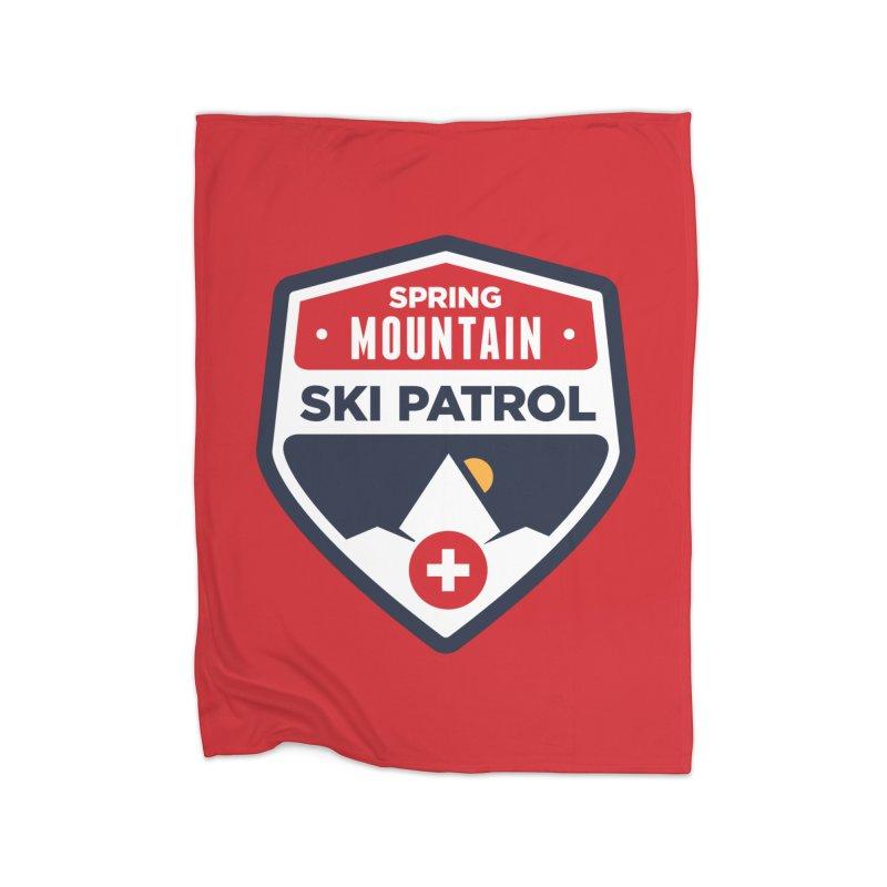 Spring Mountain Ski Patrol Home Blanket by Walters Media & Design