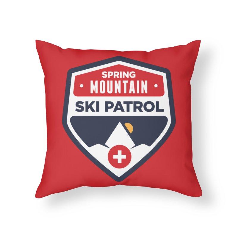 Spring Mountain Ski Patrol Home Throw Pillow by Walters Media & Design