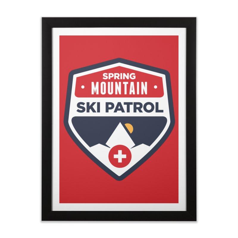 Spring Mountain Ski Patrol Home Framed Fine Art Print by Walters Media & Design