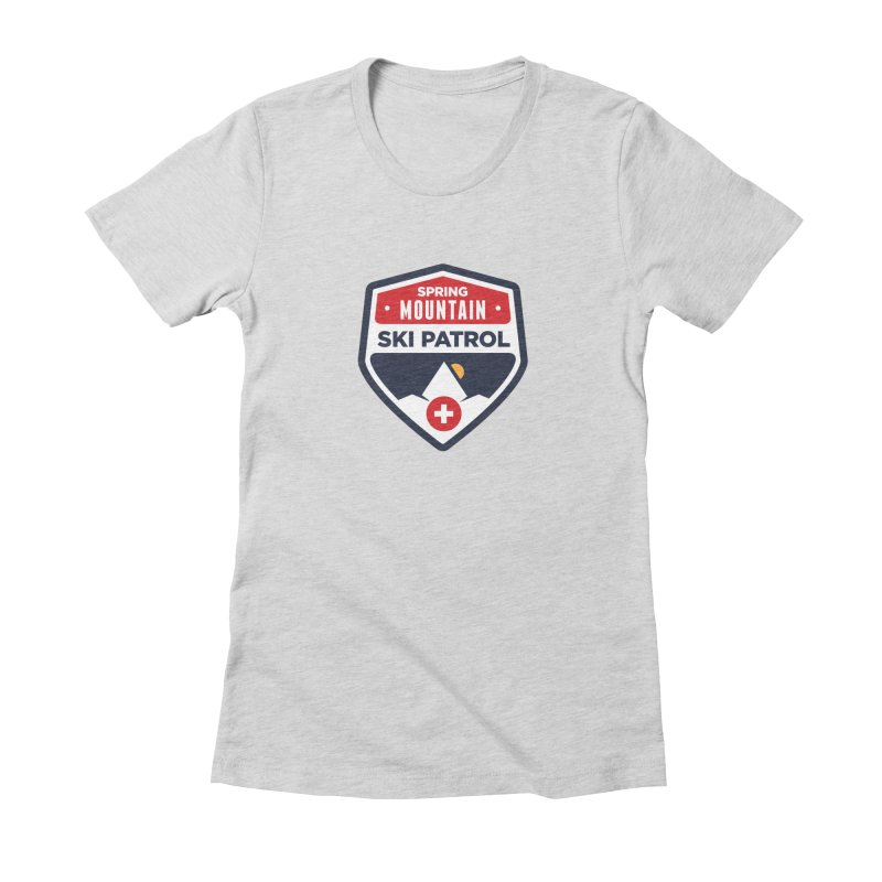Spring Mountain Ski Patrol Women's Fitted T-Shirt by Walters Media & Design