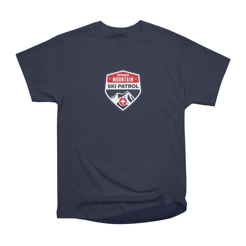 Spring Mountain Ski Patrol in Men's Heavyweight T-Shirt Navy by Walters Media & Design
