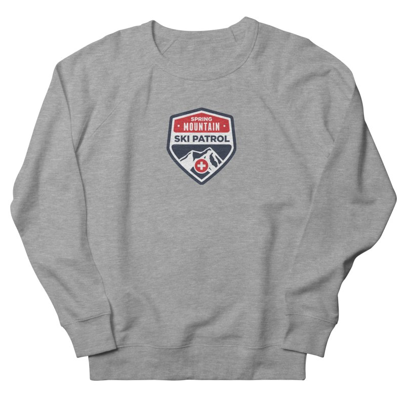 Spring Mountain Ski Patrol in Men's French Terry Sweatshirt Heather Graphite by Walters Media & Design