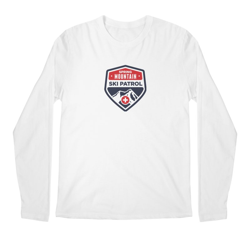 Spring Mountain Ski Patrol in Men's Longsleeve T-Shirt White by Walters Media & Design