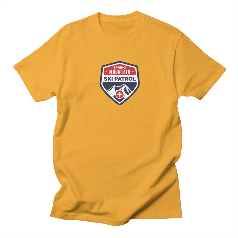 Spring Mountain Ski Patrol in Men's T-Shirt Gold by Walters Media & Design